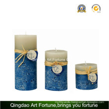 Seaside Design Handmade Pillar Candle Supplier