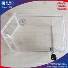 High Transparent Cube Acrylic Box with Key