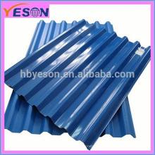 Chapas de cobertura ondulada revestidas de zinco / Aluzinc / cor