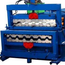 Russis tipo c35 + c44 hidráulica uncoiler telha de metal da imprensa telha dupla camada telha que faz a máquina