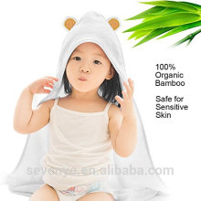 China factory 100% bamboo Hooded towel animal Boys & Girls premium perfect for baby's gentle skin bear baby bath towel
