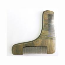 Herramienta de modelado de barba de peine de sándalo 100% verde