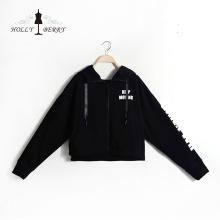 Pulls à manches longues Casual Hoodies respirants noirs Sweatshirts