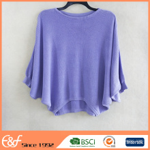High Quality Customized Ladies Bat Sleeve Oversized Sweater Jumper