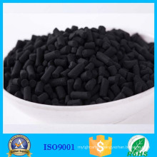 Granular sulphur activated carbon removing metallic mercury ( Hg )
