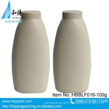 100g ovales Plastikpuderflaschenpaket