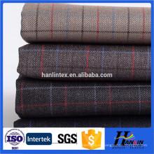 Tejido popular de lana usan ropa de los hombres de alta calidad tr lana traje telas