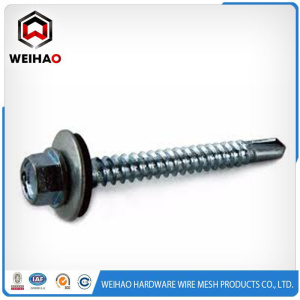 Chinese Professional for Self Tapping Screws White zinc plated hex head self drilling screw supply to French Southern Territories Suppliers