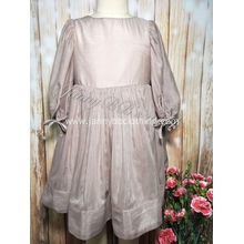 Girls Grey Cotton Silk Fairy Dress