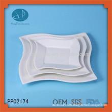 China wholesale market white ceramic dinner pizza plate,dinner plates