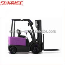 China 4 Räder 2,5 Tonnen Elektrostapler Batterie Spannung 48v Gabelstapler günstigen Preis zu verkaufen
