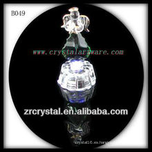 K9 Crystal Angel con base de luz LED