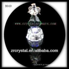 K9 Anjo de Cristal com Base de Luz LED
