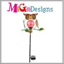 Adorable Owl Garden Decoration Solar Stake Light para la calle