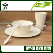 Экологически чистый Bamboo Fiber посуда и посуда наборы для продвижения 3pieces