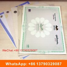 Anti-Counterfeiting Watermark Paper Certificate