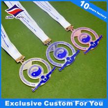 Medalla de metal deportivo de alta calidad con cinta