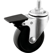Light Duty Full Plastic Lock PVC Casters