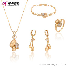 63238  hot wholesale african costume jewelry set 18k fashion design feast gold plated jewelry sets