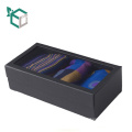 High Quality Black Custom Folding Gift Packaging Box for socks