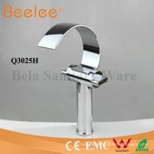 Becken Wasserhahn High Arc C Form Badezimmer Wasserfall Schiff Mischbatterie Wasserhahn