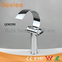 Basin Faucet High Arc C Shape Bathroom Waterfall Vessel Tap Mixer Faucet