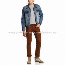 Men's Classic Denim Jacket, Factory Price, Sample Lead Time of 5 Days, OEM and ODM Orders Welcomed