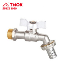 TMOK wholesale forged convenient operated copper brass bibcock with CE approved and safety structure made in china