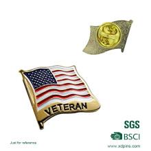 Металл США Флаг Мягкая эмаль лацкан Pin Оптовая (XDBG-16)