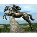 Bronze Jumping Horse Statue HVLA-233R