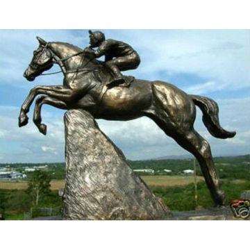 Statue de cheval sautant en bronze HVLA-233R