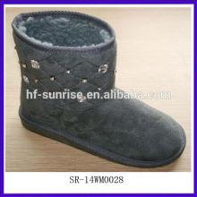 SR-14WM0028 2014Cotton Fabric Nizza Frau Winter Schnee Stiefel warm & Frauen Winter Schnee Stiefel billig Schnee Stiefel