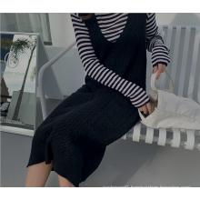 2020 autumn Loose-fitting Long Suspender Skirt