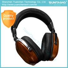 Bosshifi B8 HiFi Auriculares de madera de caoba para auriculares de metal negro