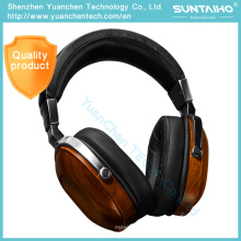 Bosshifi B8 HiFi Wooden Metal Black Earphone Mahogany Headset Headphone
