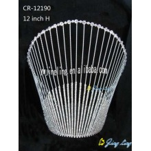 Large special tiara cheap pageant crown CR-12190
