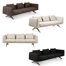 Professional factory selling for Velvet Fabric For Sofa Wooden Legs Reclining Armrest 3 Seater Sofa supply to Italy Factories