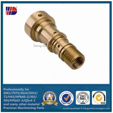 Pièce d'usinage CNC de précision en laiton de haute qualité C36000