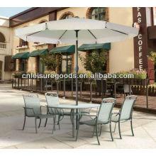 Paraguas de metal barato al aire libre con palmada