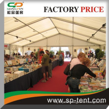 Span 15m width auto exhibition tent in wind proof strong aluminium frame