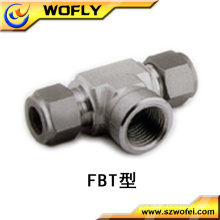 3 way Equal Hexagon stainless steel female branch tee pipe fitting