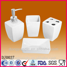white ceramic bathroom set,bathroom accessory set,bathroom sanitary set