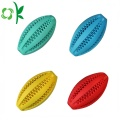 Rugby Chew Toys Tooth Silicone Training Dog Balls