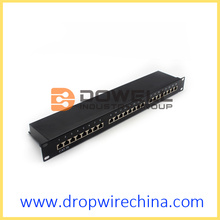 24-Port-Cat-5e-geschirmte Patch-Panel