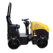 Small vibratory backfill roller for driving