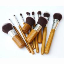 Bamboo Vegan Makeup Brush Set Pinceles para rubor en polvo