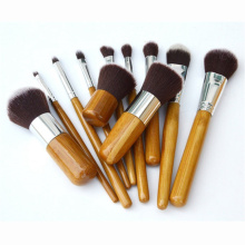 Bamboo Vegan makeup brush set powder blush brushes