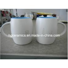 Taza de cerámica grabada con láser