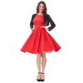 Belle Poque Color Rojo Pin Up Vestidos Retro Vestido Casual Vestido 50s Vintage Vestido Mujer Verano Vestido BP000091-2