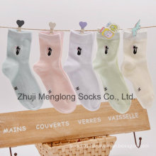 2016 Hot Sale Summer Mesh Children Cotton Socks with Embrodiery Cat